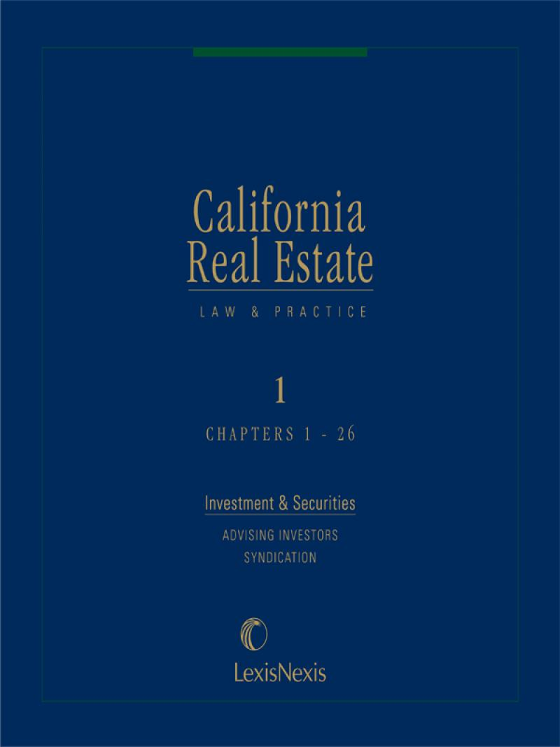 California Real Estate Law and Practice