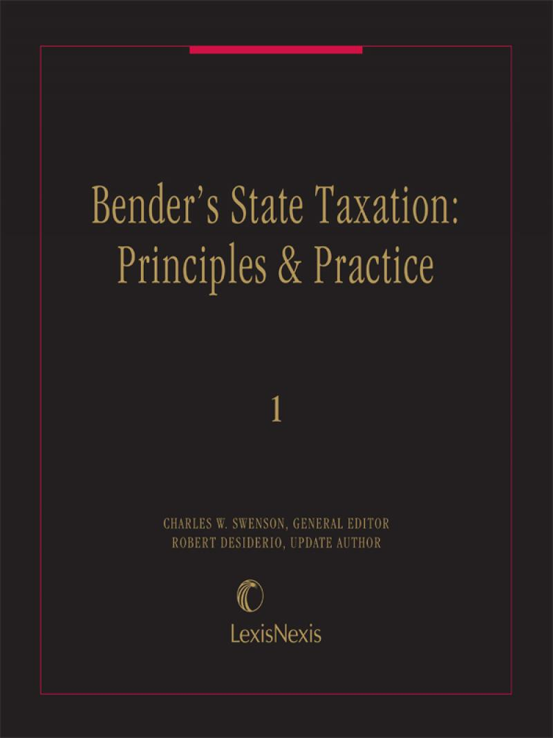 Benders State Taxation Principles And Practice Cover
