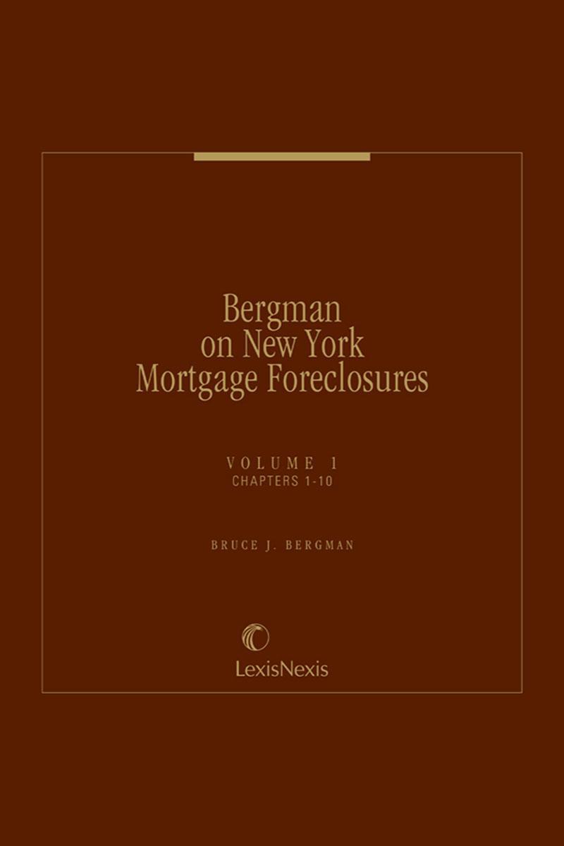 Bergman on New York Mortgage Foreclosures
