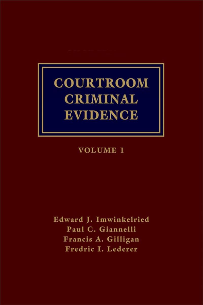 Courtroom Criminal Evidence | LexisNexis Store