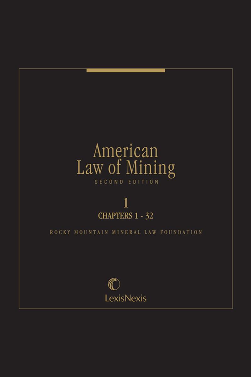 American Law Of Mining Lexisnexis Store