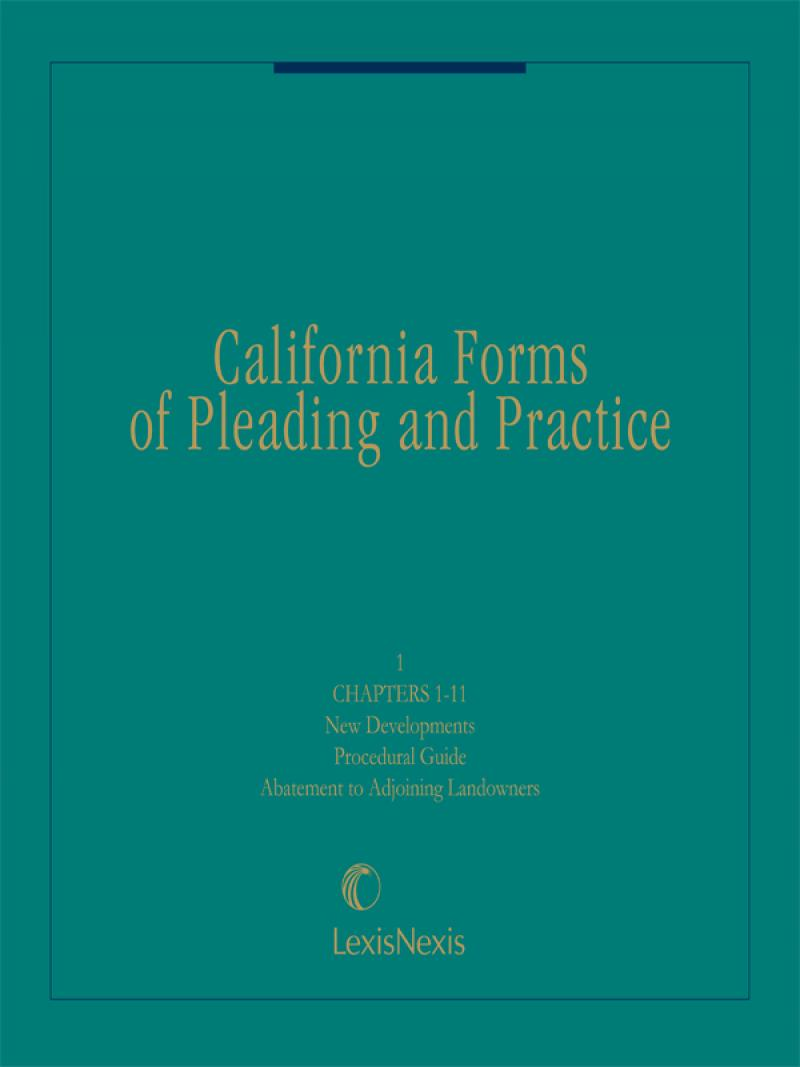California Forms Of Pleading And Practice Lexisnexis Store