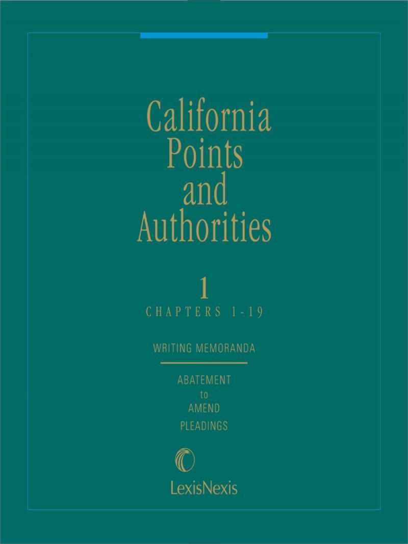 California Points And Authorities Lexisnexis Store