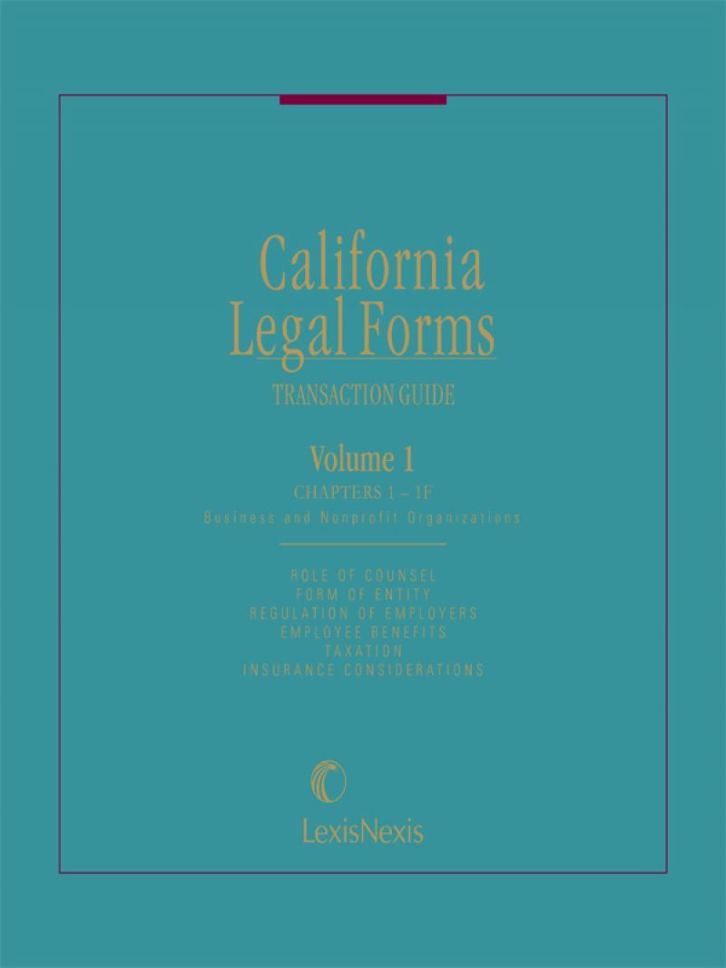 Legal Form | California Legal Forms Transaction Guide Lexisnexis Store