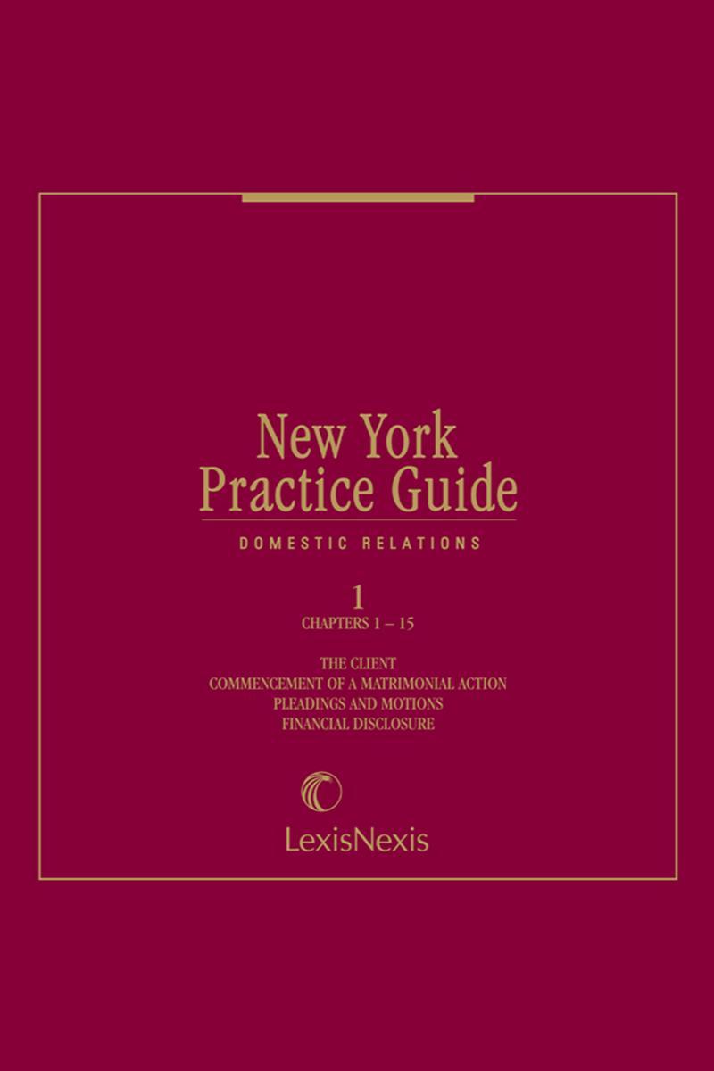 New York Practice Guide: Domestic Relations | LexisNexis Store