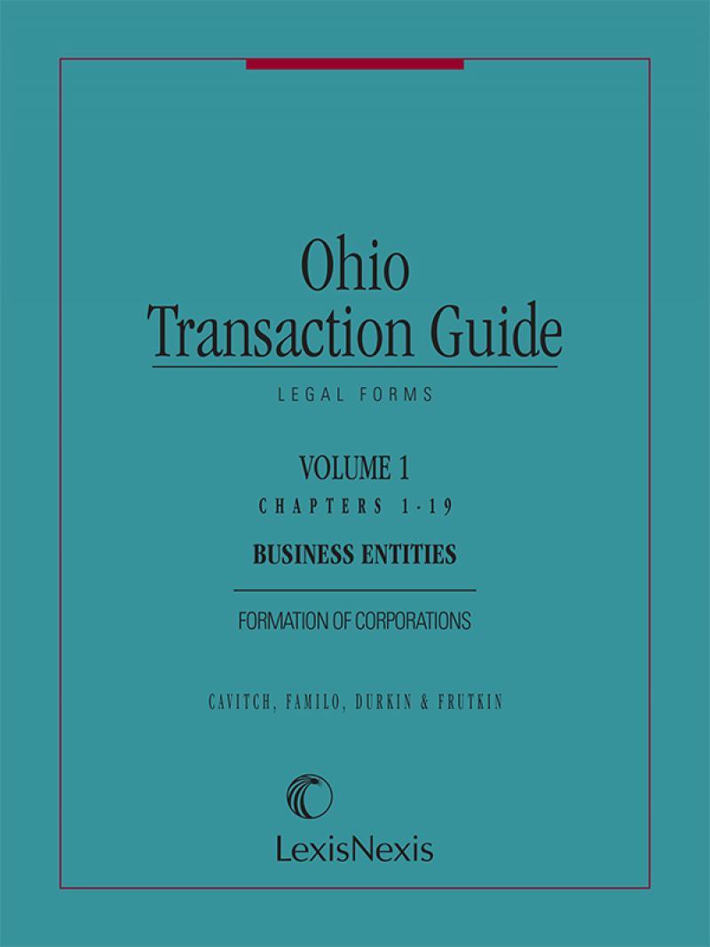 Ohio Transaction GuideLegal Forms LexisNexis Store - Ohio legal forms