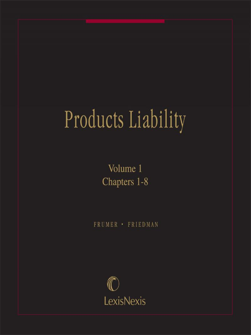 Products liability frumer friedman sklaren lexisnexis store products liability frumer friedman sklaren fandeluxe Choice Image