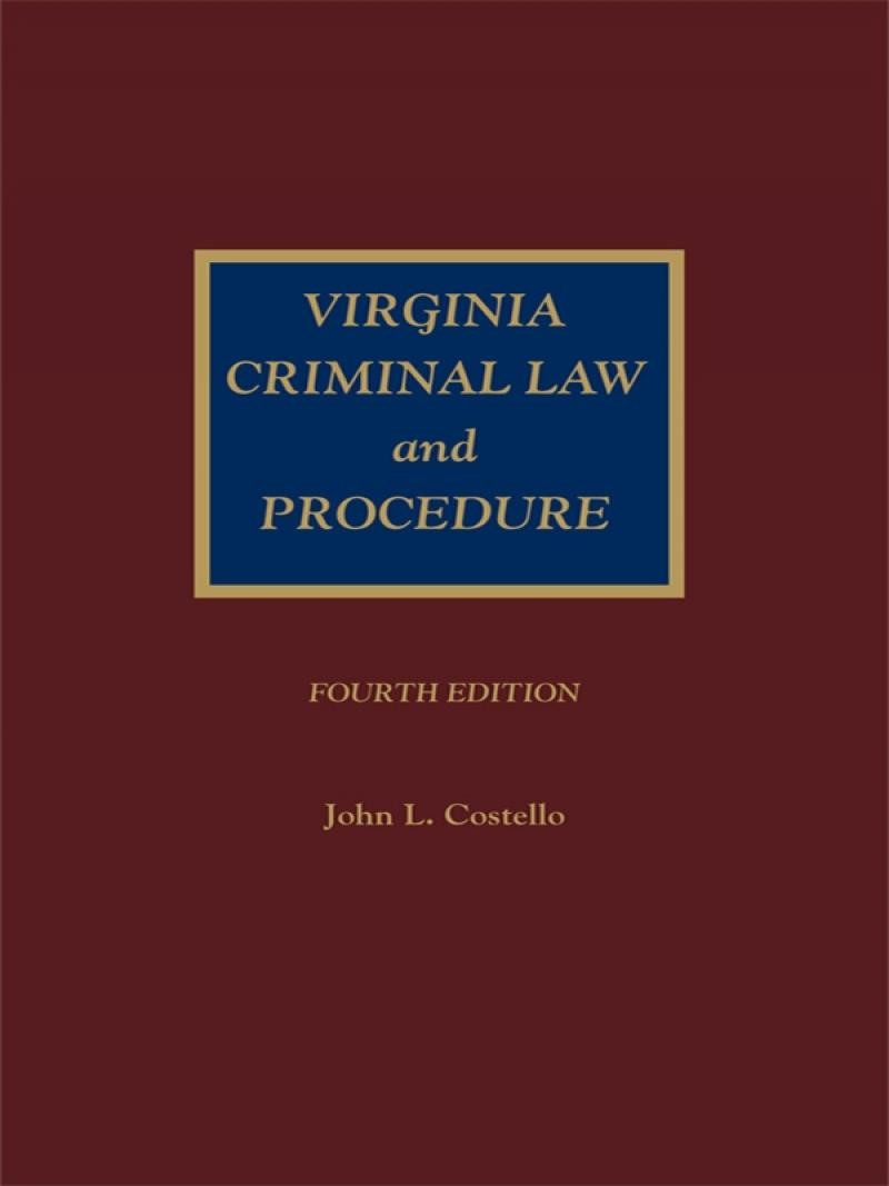 5101b9550e29 Virginia Criminal Law and Procedure | LexisNexis Store