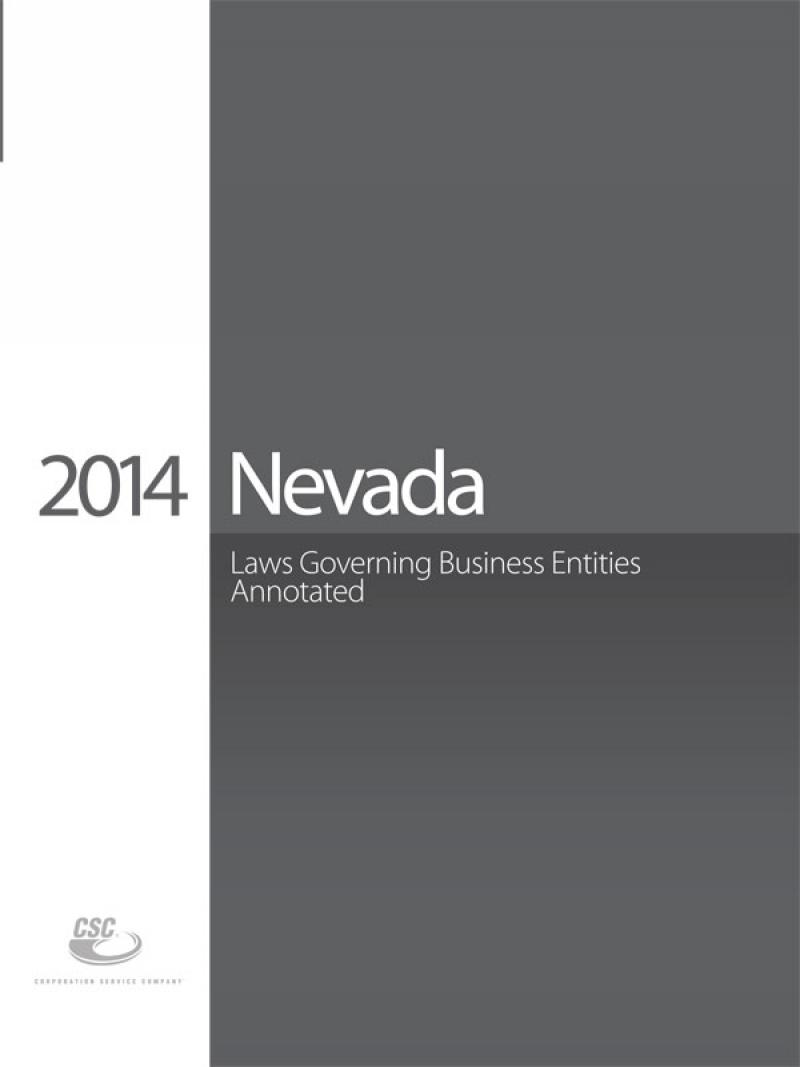 CSC Nevada Laws Governing Business Entities, First Edition