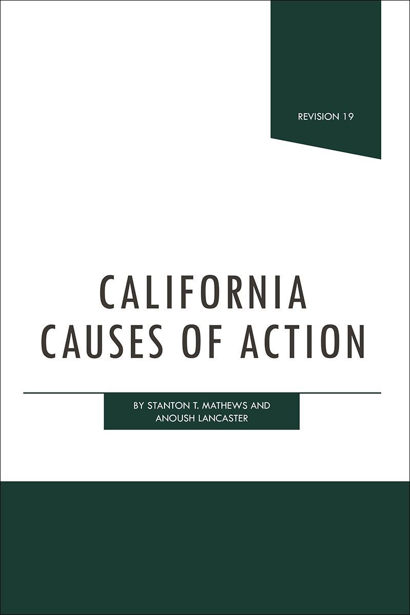 California Causes Of Action Lexisnexis Store