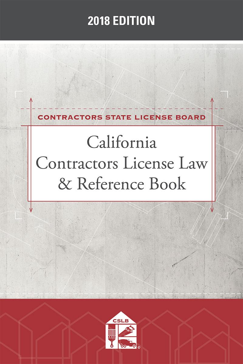 california contractors license law and reference book pdf
