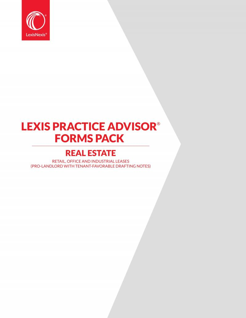 Lexis Practice Advisor Forms Pack Retail Office And Industrial