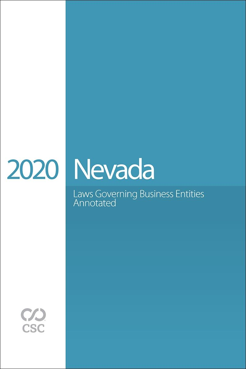 Nevada Laws Governing Business Entities Annotated, 2020 Edition