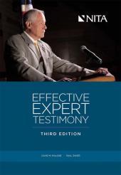 Effective Expert Testimony cover