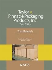Jamie Taylor v. Pinnacle Packaging Products, Inc., Case File cover