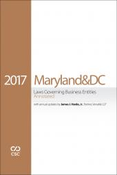 CSC® Maryland & the District of Columbia Laws Governing Business Entities cover